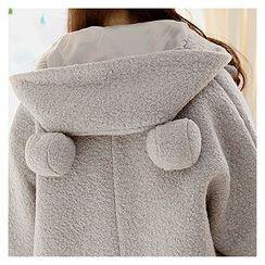 Sechuna - Pom-Pom Hooded Jacket