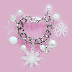 Sweet & Co. - Sweet&Co. White Snow Flurry Starlight Swarovski Crystal Bracelet