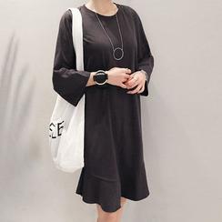 NANING9 - 3/4-Sleeve Shift Dress