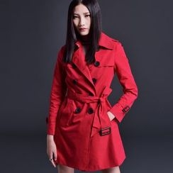Labbara - Notched-Lapel Double-Breasted Trench Coat