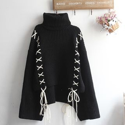 akigogo - High Neck Sweater