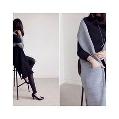 MASoeur - Open-Front Wool Blend Long Vest
