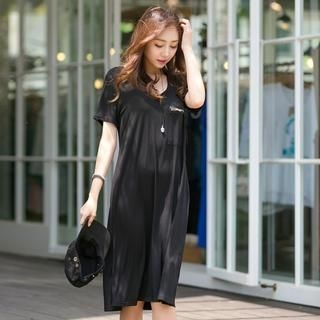 J-ANN - Scoop-Neck T-Shirt Dress