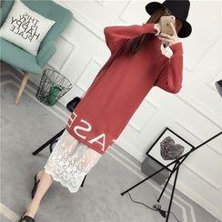 Loytio - Long-Sleeve Color Block Knit Dress