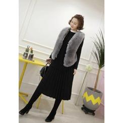 Lemite - Accordion-Pleat A-Line Skirt