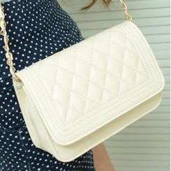Yoyo Bags - Quilted Chain-Strap Cross Bag