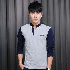 Walwa - Long-Sleeve V-Neck T-Shirt