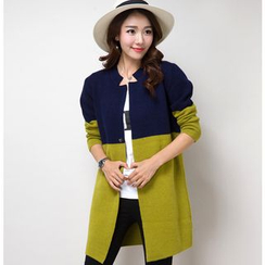 Birdwatch - Color Block Long Knit Jacket