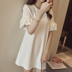EFO - Ruffle Chiffon Shift Dress