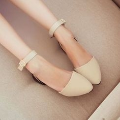 Pretty in Boots - Ankle Strap Flats