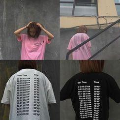 Cerauno - Print Elbow-Sleeve T-Shirt