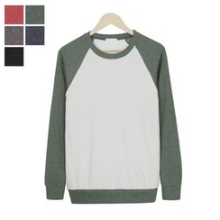 DANGOON - Raglan-Sleeve Colored Sweatshirt