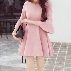 Fashion Street - 3/4-Sleeve A-Line Minidress