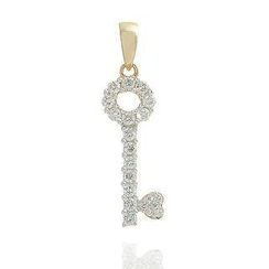 Keleo - 18K Yellow Gold Diamond Pendant