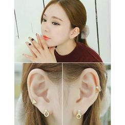 soo n soo - Set of 4: Faux-Pearl Earrings (Single)