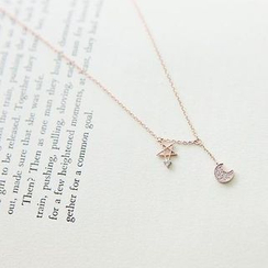 MOMENT OF LOVE - Crescent & Star Necklace