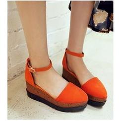 Freesia - Platform Ankle Strap Sandals