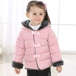 Cuckoo - Kids Bow Hooded Padded Coat