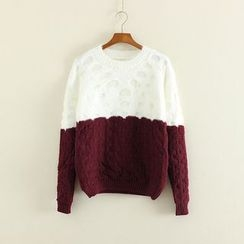 Mushi - Open Knit Panel Sweater