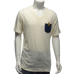 YesStyle M - Pocket-Accent Short-Sleeve T-Shirt