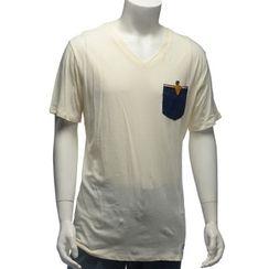 YesStyle M - Pocket-Accent Short-Sleeve T-Shirt