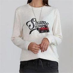 CHICFOX - Lettering Mélange T-Shirt