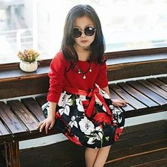 Famula - Kids Long-Sleeve Floral Dress