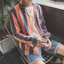 子俊 - 条纹长袖衬衫