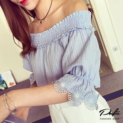 PUFII - Off-Shoulder Bow-Back Top