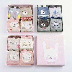 MITU - Set of 4 Pairs: Animal Socks