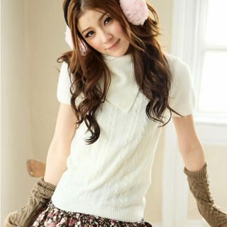 Tokyo Fashion - Short-Sleeve Turtleneck Sweater