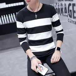 JVR - Long-Sleeve Color-Block T-Shirt