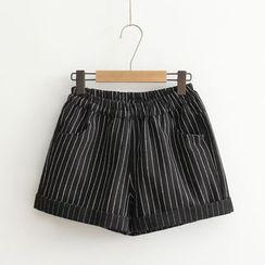 DeToile - 條紋短褲