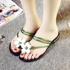 Ginko - Floral Strappy Flip-flops
