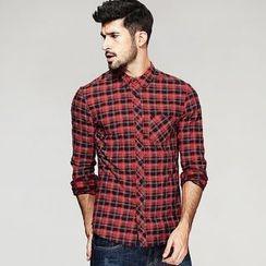 Quincy King - Slim-Fit Plaid Shirt