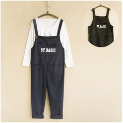 Fireflies - Lettering Pinafore Jumpsuit