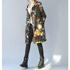 Dream Girl - Printed Long Padded Jacket