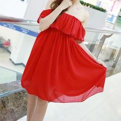 Angel Shine - Off-Shoulder Chiffon Dress