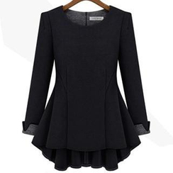 Eloqueen - Long-Sleeve Peplum Top