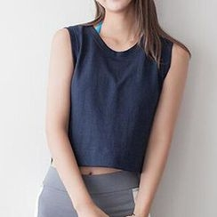 Champi - Chiffon Back Cropped Tank Top