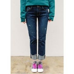 J-ANN - Distressed Blue Jeans