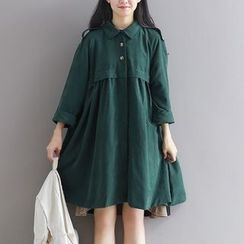 Supernova - Loose Fit A-Line Shirtdress