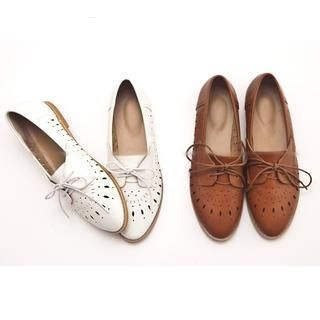 FM Shoes - Perforated Oxford Shoes