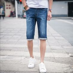 Hawoo - Washed Denim Shorts