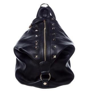 ans - Studded Faux Leather Convertible Backpack