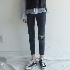 MATO - Distressed Cropped Skinny Jeans