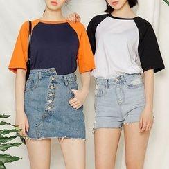 Heynew - Raglan Short Sleeve T-Shirt