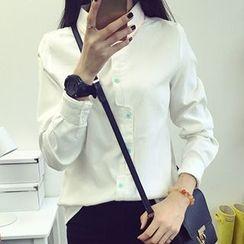 Neeya - 不規則鈕釦襯衫