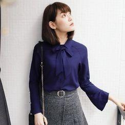 Tokyo Fashion - Tie-Neck Chiffon Blouse