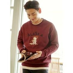 JOGUNSHOP - Printed Embroidered Sweatshirt